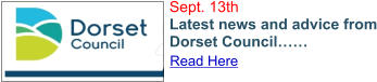 Sept. 13th Latest news and advice from Dorset Council…… Read Here