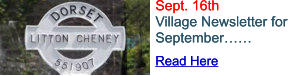 Read Here Sept. 16th Village Newsletter for September…… Read Here Sept. 16th Village Newsletter for September……